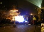 Buring christmas trees in Berlin