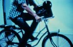 Bicycle powered film projector