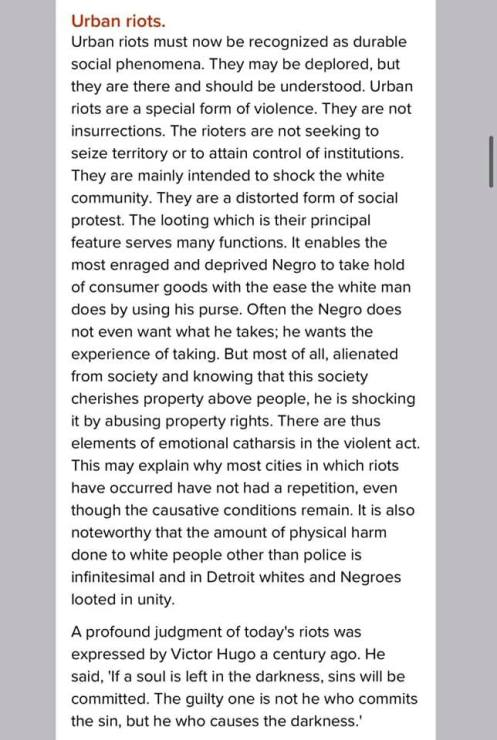James Baldwin on Looting